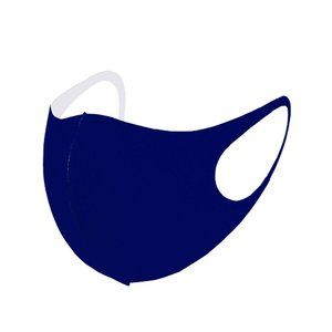 Accessories - Fashion Solid Navy Face Mask